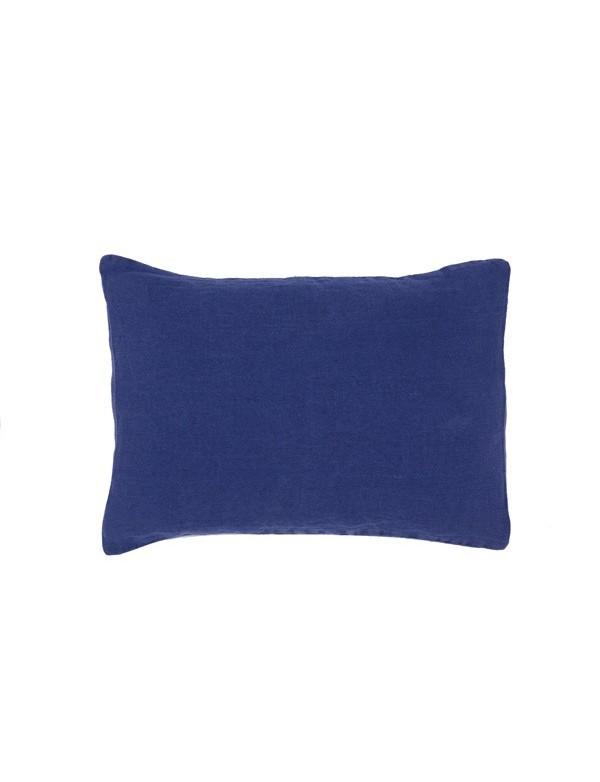 Linge Particulier - Housse de coussin en lin lavé Bleu Nuit