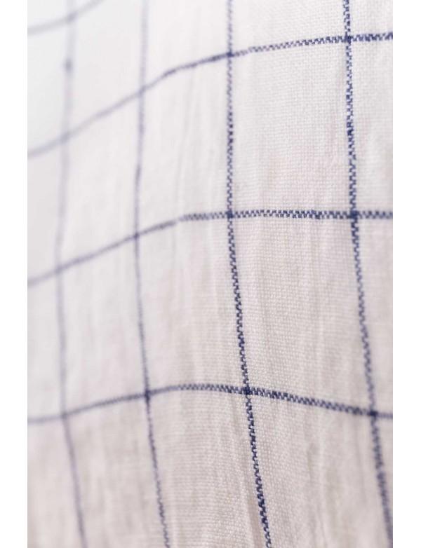 ... Linge Particulier - Grand Sac en lin lavé carreaux XL Blanc et Marine  ... 7f9966331132