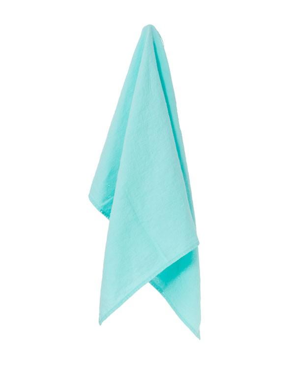 Linge Particulier - Torchon / Essuie-main bleu Lagon