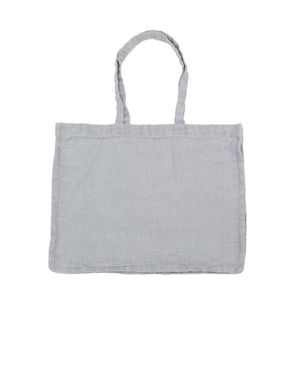 Linge Particulier - Sac cabas en lin lavé heavy gris ciel