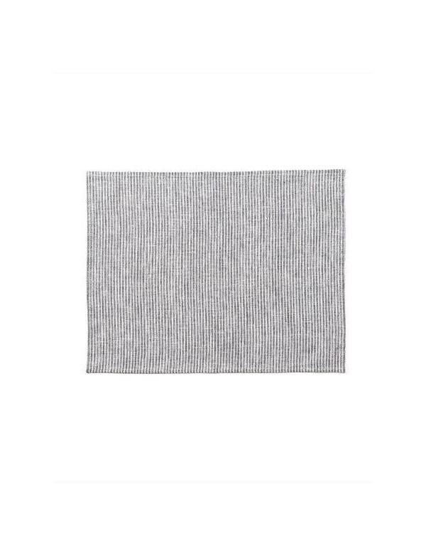 Fog Linen - Set de table en lin rayé gris et blanc