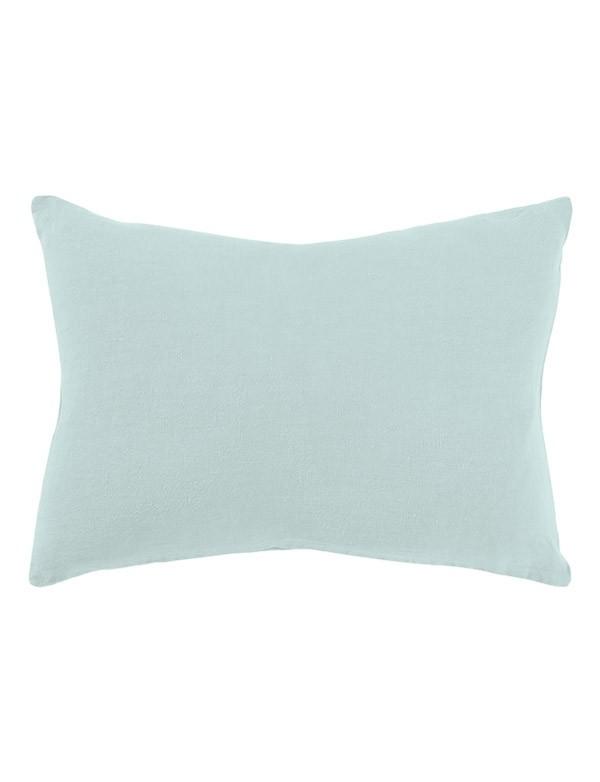 Linge Particulier - Housse de coussin en lin bleu pâle