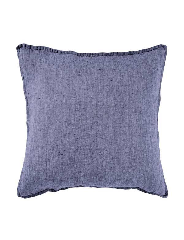 Linge Particulier - Housse de coussin en lin lavé Bleu Chambray