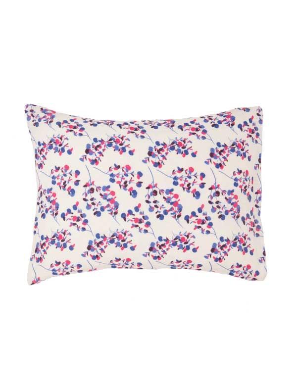 Linge Particulier - Housse de coussin en lin lavé à fleurs Sakura